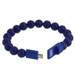 CÂBLE TÉLÉPHONE Bracelet Chargeur USB Bleu pour SAMSUNG GALAXY NOT