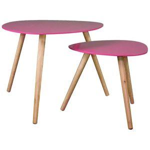 table basse rose achat vente pas cher les soldes. Black Bedroom Furniture Sets. Home Design Ideas