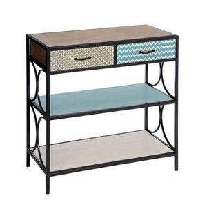 console bois metal achat vente console bois metal pas cher cdiscount. Black Bedroom Furniture Sets. Home Design Ideas