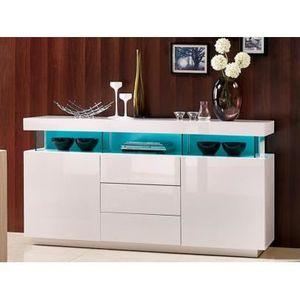 Meubles s jour buffet blanc led achat vente meubles - Buffet blanc laque pas cher ...