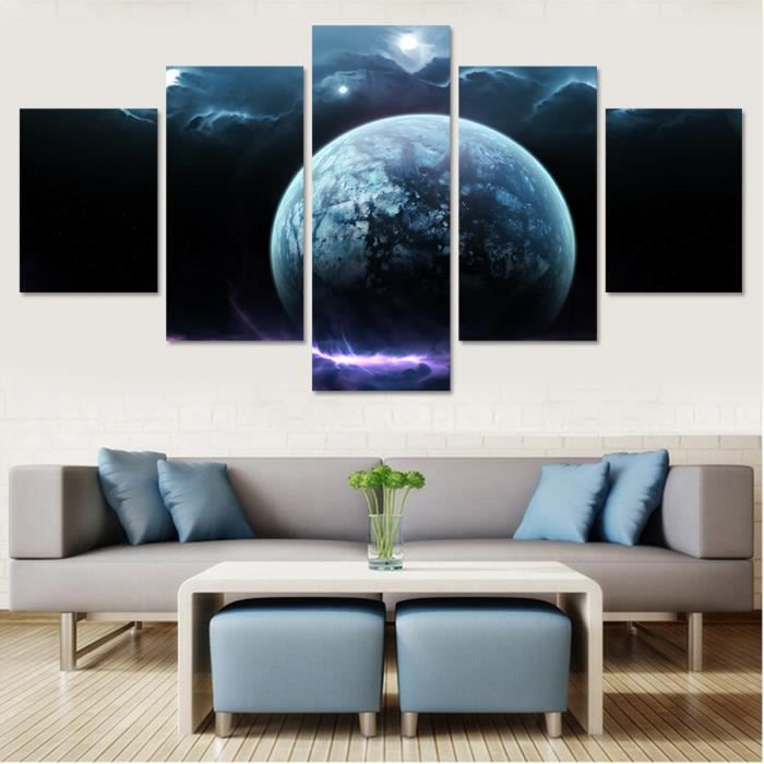 unframe 5 panneau image murale set art toile d coration peinture pas d 39 image de cadre imprim. Black Bedroom Furniture Sets. Home Design Ideas