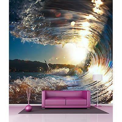 Papier peint g ant d coration murale vagues r f 4521 for Papier peint decoration murale