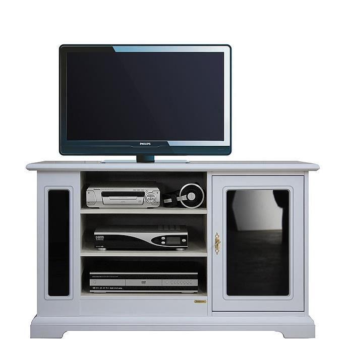 Meuble tv 1 porte avec noir reflex achat vente meuble - Meuble tv avec porte ...
