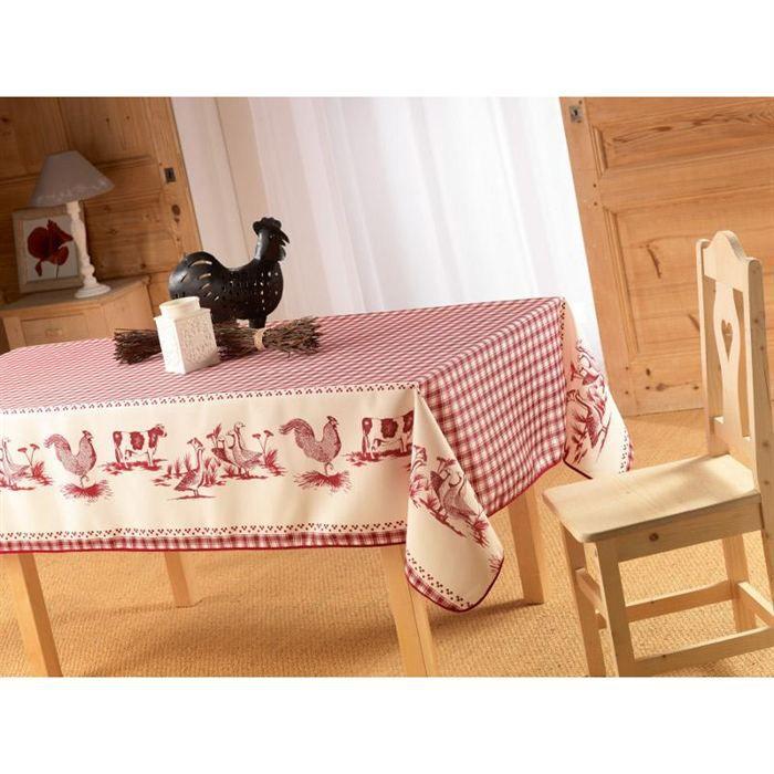 nappe antitache 150x240cm basse cour achat vente nappe de table cdiscount. Black Bedroom Furniture Sets. Home Design Ideas