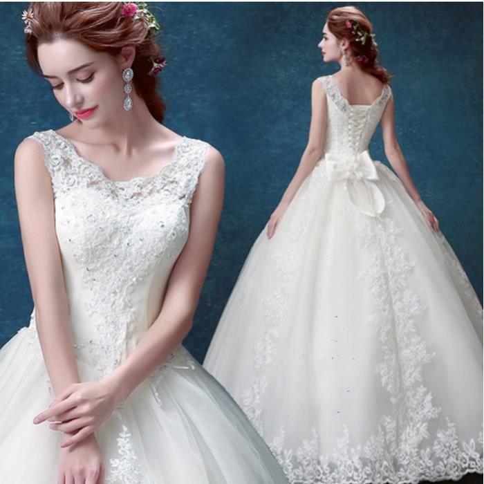 2016 robe de mari e en dentelle de mariage robe de mari e blanche robe princess bride paule mot. Black Bedroom Furniture Sets. Home Design Ideas