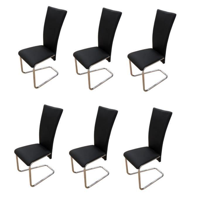 Chaise design m tal noire lot de 6 achat vente - Lot de 6 chaises design ...