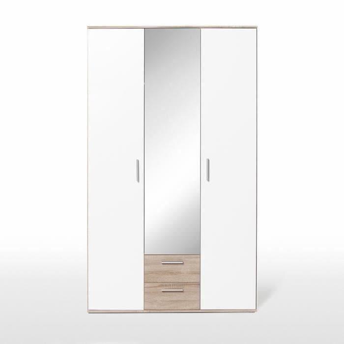 armoire de chambre finlandek armoire selke en bois agglomr contemp - Meuble Chambre Pas Cher