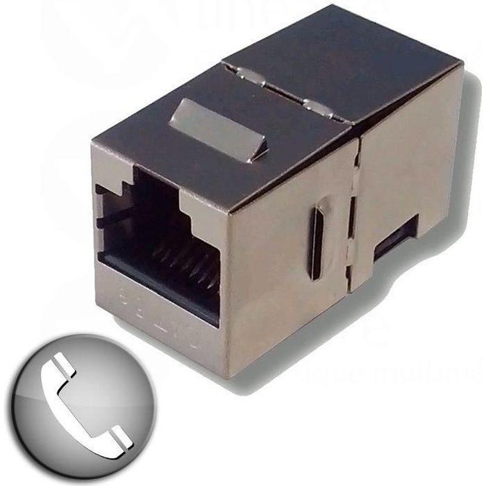 adaptateur rj45 femelle femelle blind prix pas cher cdiscount. Black Bedroom Furniture Sets. Home Design Ideas