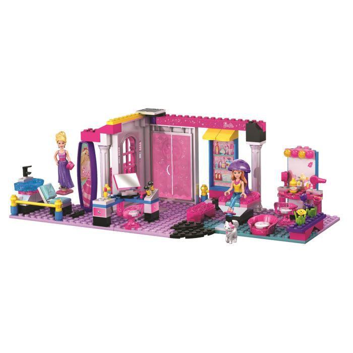 Mega bloks barbie le salon de coiffure glamour achat for Salon de coiffure lego friends