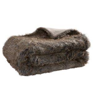 plaid fourrure achat vente plaid fourrure pas cher cdiscount. Black Bedroom Furniture Sets. Home Design Ideas