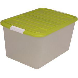 Bac de rangement en plastique avec couvercle achat - Boite en plastique de rangement pas cher ...