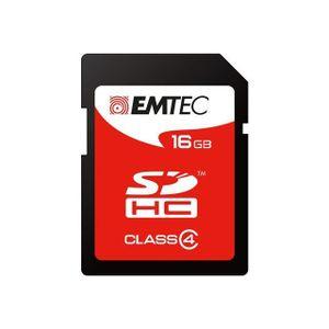 CARTE MÉMOIRE Carte mémoire SD Emtec 16 Go - classe 4