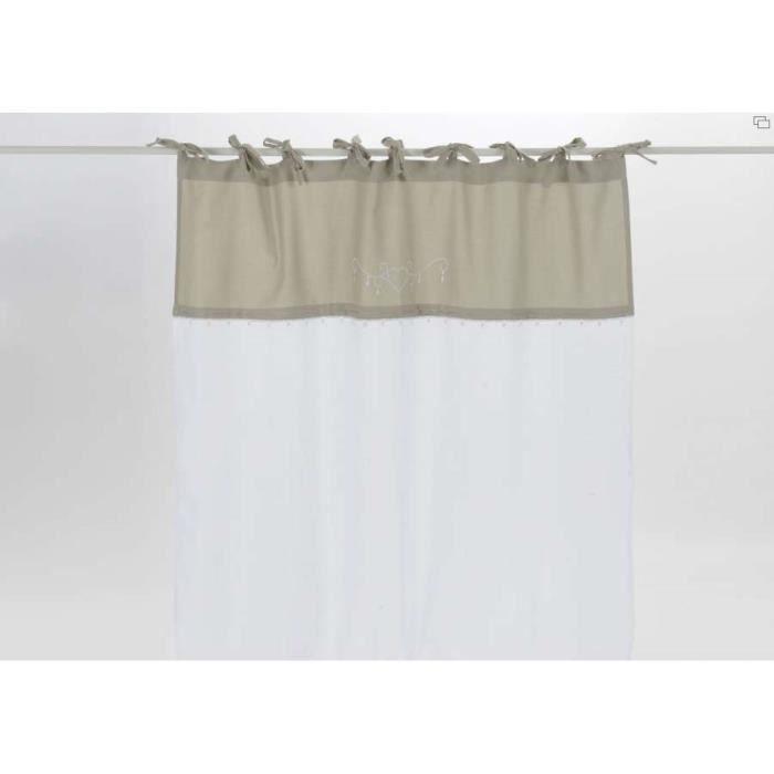 rideaux amadeus nou beige et blanc 3 m vendus achat vente rideau cdiscount. Black Bedroom Furniture Sets. Home Design Ideas