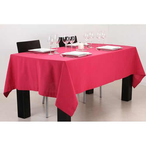 Nappe rectangulaire 150 x 250 cm framboise achat for Nappe de table rectangulaire