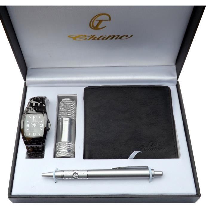 coffret cadeau montre homme portefeuille stylo achat vente montre cdiscount. Black Bedroom Furniture Sets. Home Design Ideas
