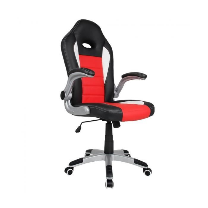 superbe chaise de bureau sport siege baquet noir rouge blanc sport racing design neuf. Black Bedroom Furniture Sets. Home Design Ideas
