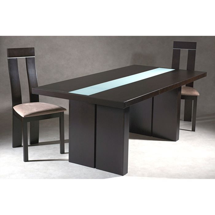 Table manger design weng verre wood achat vente for Table de salle a manger wenge