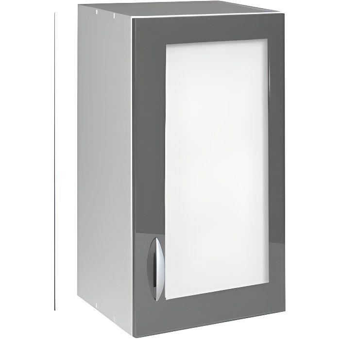 meuble haut gris cuisine avec porte vitree 2 abattants solutions pour la d coration int rieure