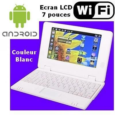 netbook blanc android wifi usb sd cran 7 pouces prix pas cher cdiscount. Black Bedroom Furniture Sets. Home Design Ideas