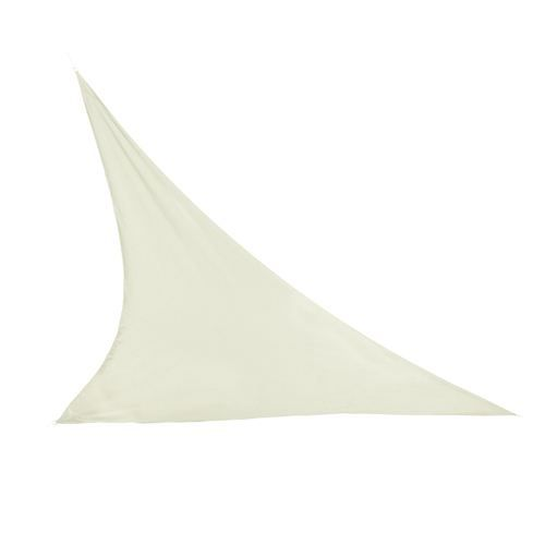 Toile solaire triangulaire 3 x 3 m ecru achat - Toile de jardin triangulaire ...
