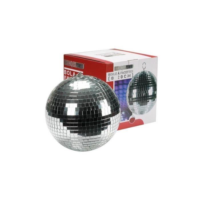 Boule facettes 20 cm boule a facettes avis et prix pas cher cdiscount - Ampoule boule a facette ...