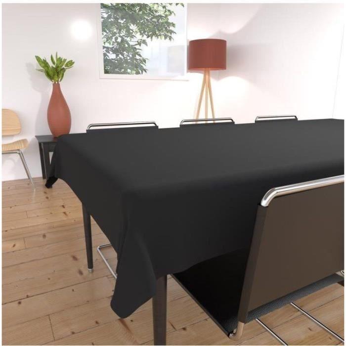 Nappe rectangulaire noire table de cuisine - Nappe de cuisine rectangulaire ...