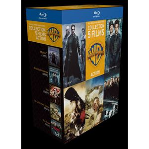 BLU-RAY FILM Blu-Ray Coffret 90 ans Warner : 5films d'action