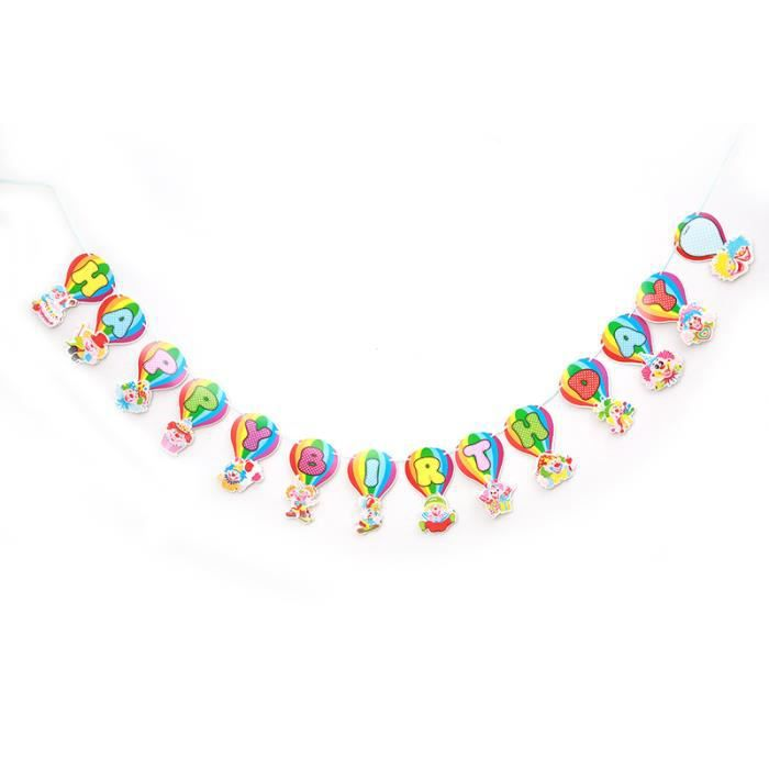 Balon clown diy banderole anniversaire enfant party for Cdiscount decoration