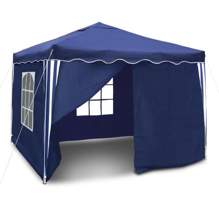 pavillon de jardin 3x3 m tonnelle chapiteau barnum gazebo avec sac de transport achat vente. Black Bedroom Furniture Sets. Home Design Ideas