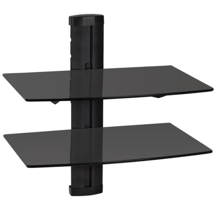 Tag re support mural pour dvd console 2 tablettes verre - Support mural pour four ...