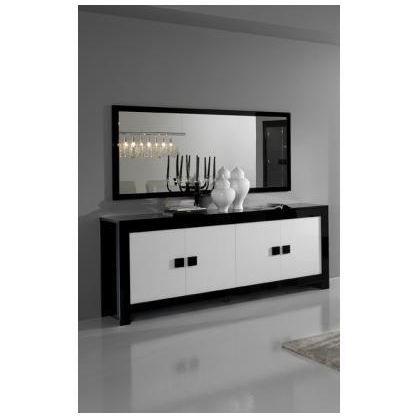 Buffet laque blanc et noir images - Bahut noir et blanc laque ...