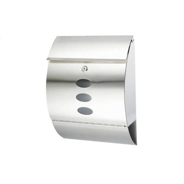 boite aux lettres inox 30x12x40 cm achat vente boite aux lettres cdiscount. Black Bedroom Furniture Sets. Home Design Ideas