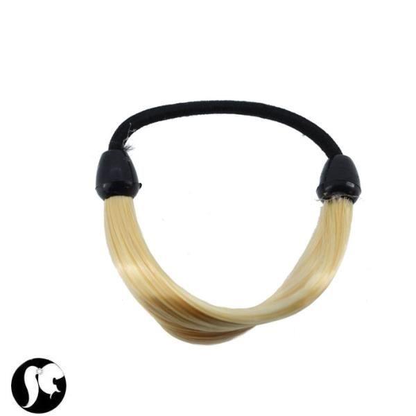 elastique noir avec m che de cheveux blonde achat vente barrette chouchou elastique noir. Black Bedroom Furniture Sets. Home Design Ideas