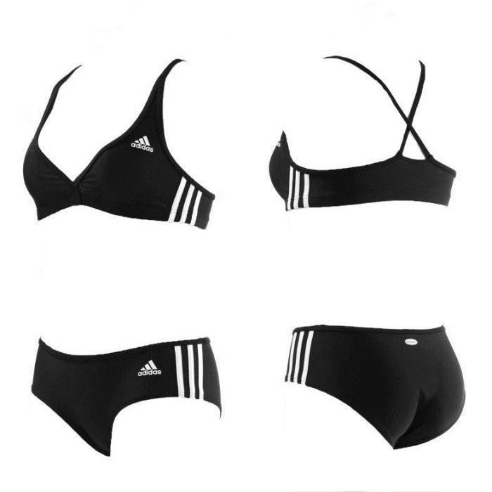 maillot de bain adidas femme 3 s noir achat vente maillot de bain maillot de bain adidas. Black Bedroom Furniture Sets. Home Design Ideas