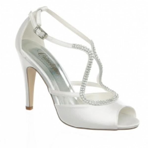 escarpin chaussure mariage print 35 beige blanc - Chaussures Compenses Blanches Mariage
