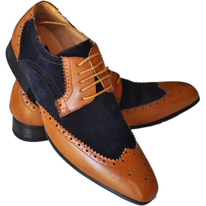 chaussures marron et bleu pour h bleu achat vente richelieu cdiscount. Black Bedroom Furniture Sets. Home Design Ideas