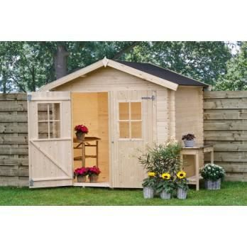 abri de jardin avec plancher 18 mm 4 7 m2 3 achat. Black Bedroom Furniture Sets. Home Design Ideas