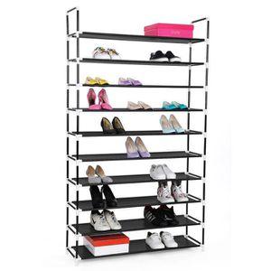 meuble a chaussures 100 cm achat vente meuble a chaussures 100 cm pas cher cdiscount. Black Bedroom Furniture Sets. Home Design Ideas