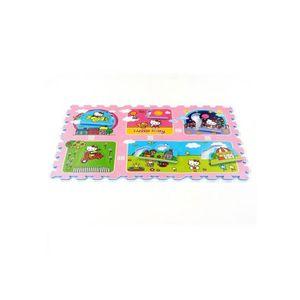 TAPIS ,Tapis Puzzle Hello Kitty ,,Jardin,,,