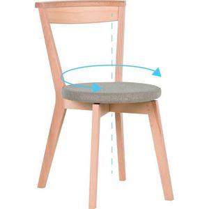 CHAISE CLOSER Chaise de salle à manger rotative - Tissu g