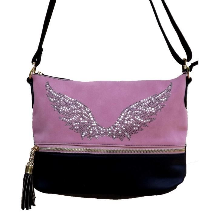 Sac A Main Bandouliere Strass : Sac ? main bandouliere ailes en strass les anges achat