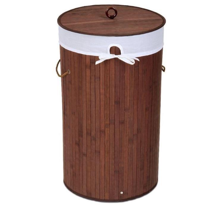 panier corbeille linge 70 l bambou 2001027 achat vente panier a linge panier corbeille. Black Bedroom Furniture Sets. Home Design Ideas