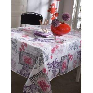 nappe en toile cir e ronde 180 cm balladine rou achat vente nappe de table soldes d t. Black Bedroom Furniture Sets. Home Design Ideas