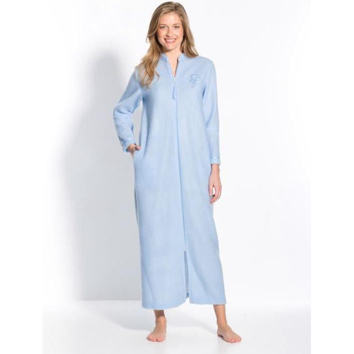 Robe de chambre zipp e en molleton courtelle achat vente robe de chambre cdiscount - Robe de chambre femme leclerc ...