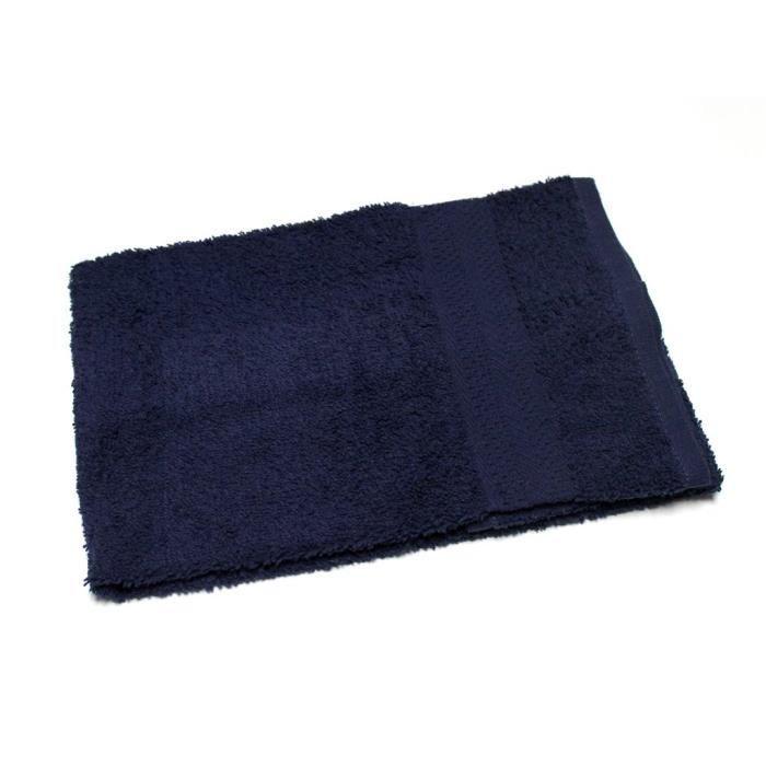 serviette de toilette uni bleu 450gr m2 achat vente serviettes de bain cdiscount. Black Bedroom Furniture Sets. Home Design Ideas