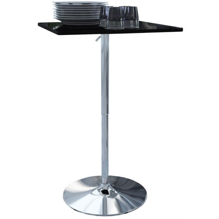 table de bar greta noire pied rond achat vente mange debout table de bar greta noire p. Black Bedroom Furniture Sets. Home Design Ideas