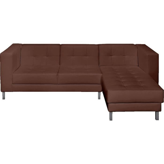 Canap d 39 angle droit switsofa manfield choco achat for Cdiscount canape d angle