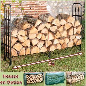 ABRI BUCHES Serre buche luxe range bois grande capacite