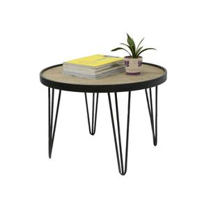 Meuble d appoint metal achat vente meuble d appoint for Table ronde bois metal