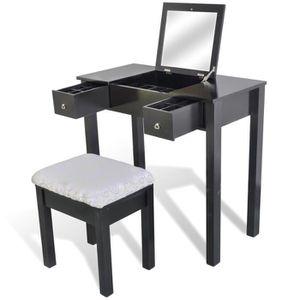 coiffeuse noir achat vente coiffeuse noir pas cher. Black Bedroom Furniture Sets. Home Design Ideas